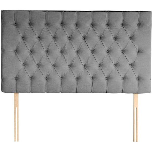 Silentnight Amalia Headboard 260 Liked On Polyvore Featuring Home Furniture Beds Super King Bed Colored Silentnight King Size Headboard Grey Headboard