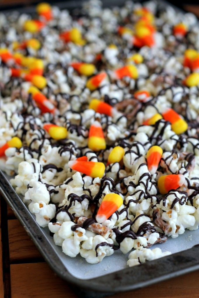 White Chocolate Candy Corn Popcorn Perfect For Halloween