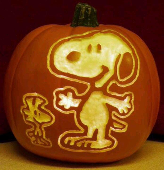 Snoopy woodstock pumpkin it s the great