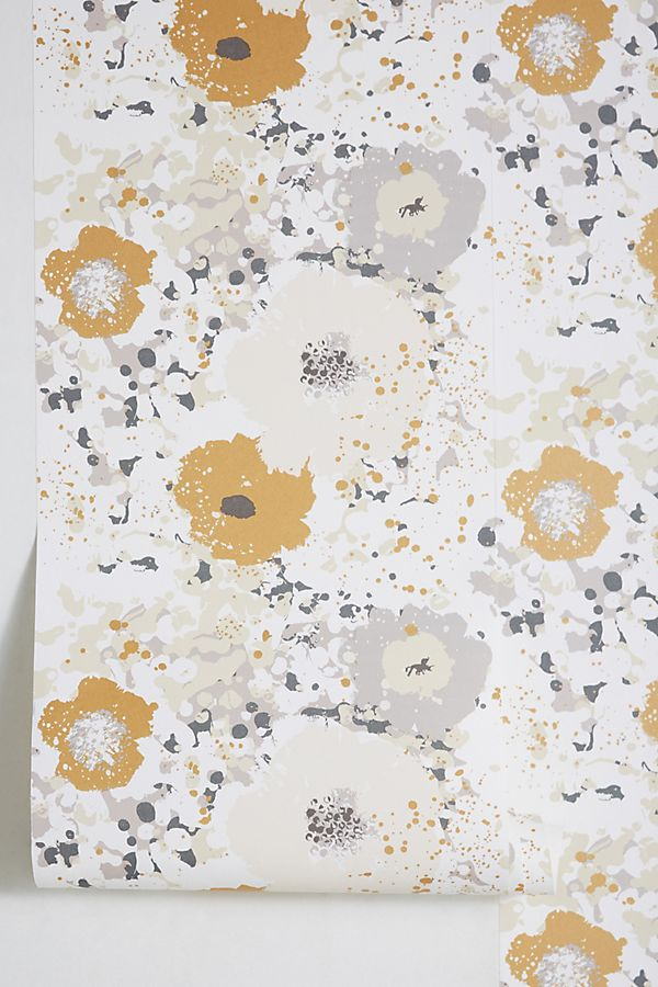 Spontaneous Wallpaper by Anthropologie in Gold, Wall Decor