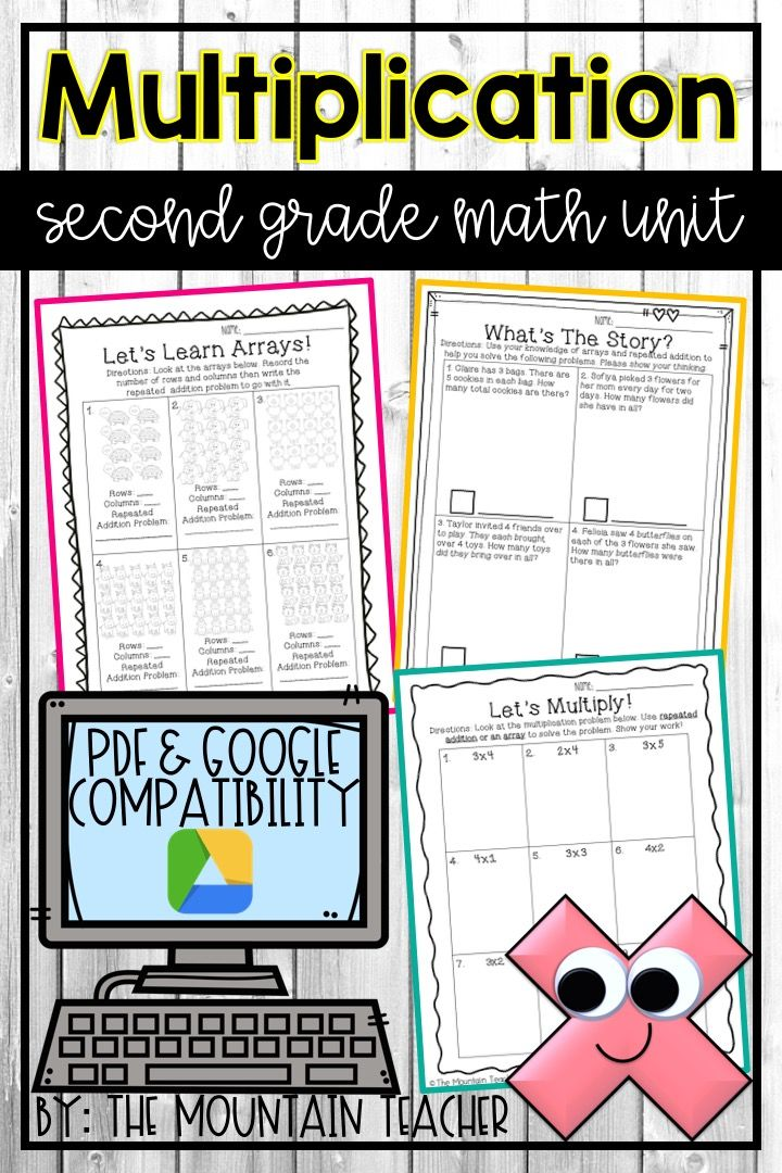 Second Grade Multiplication and Arrays Unit Digital and