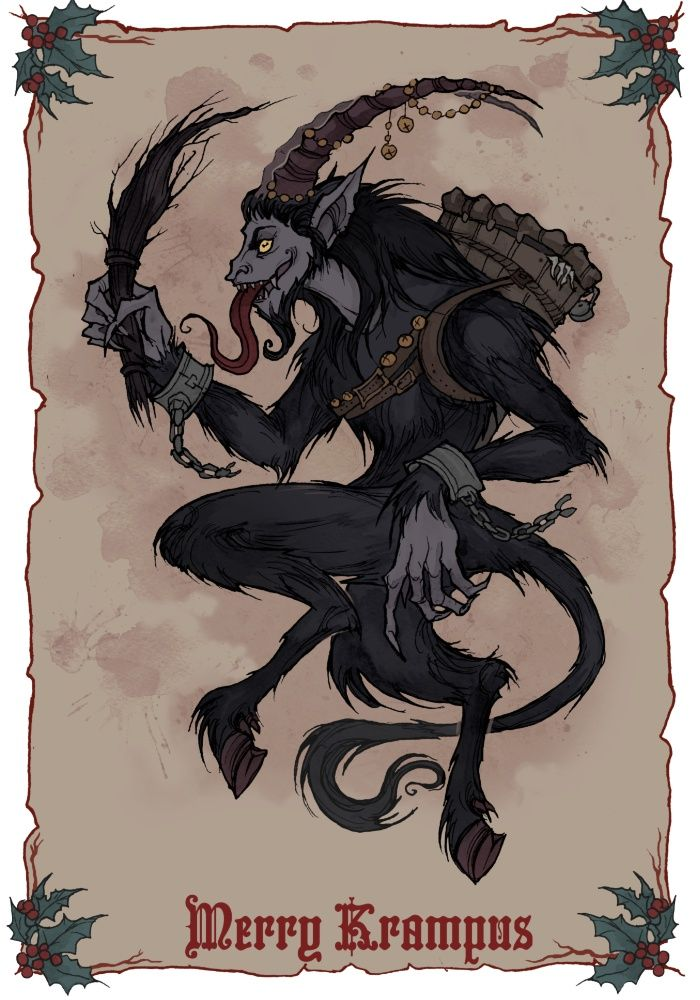 Merry Krampus by Iren Horrors - Buy Print and Stuff (stickers
