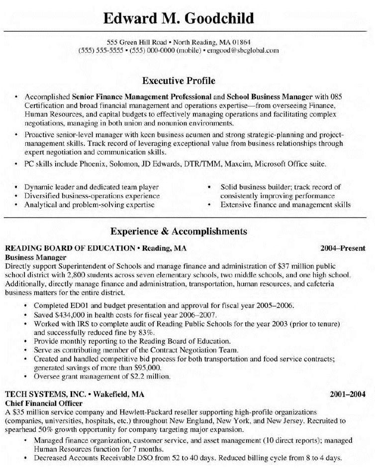 Best Business Management Resume -   topresumeinfo/best