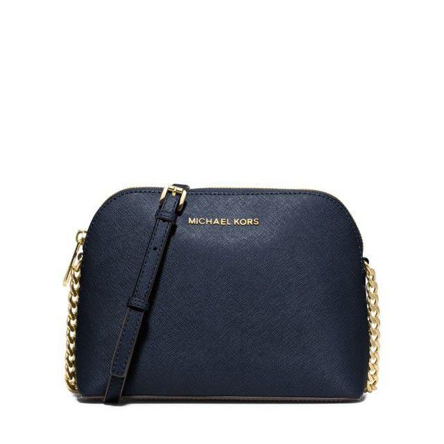 c85a68b29db1 MICHAEL Michael Kors Cindy Large Saffiano Leather Crossbody Bag Navy Blue