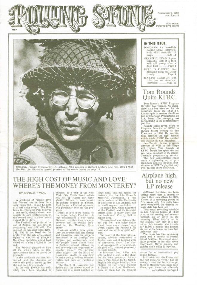 John Lennon Graces Premiere Issue