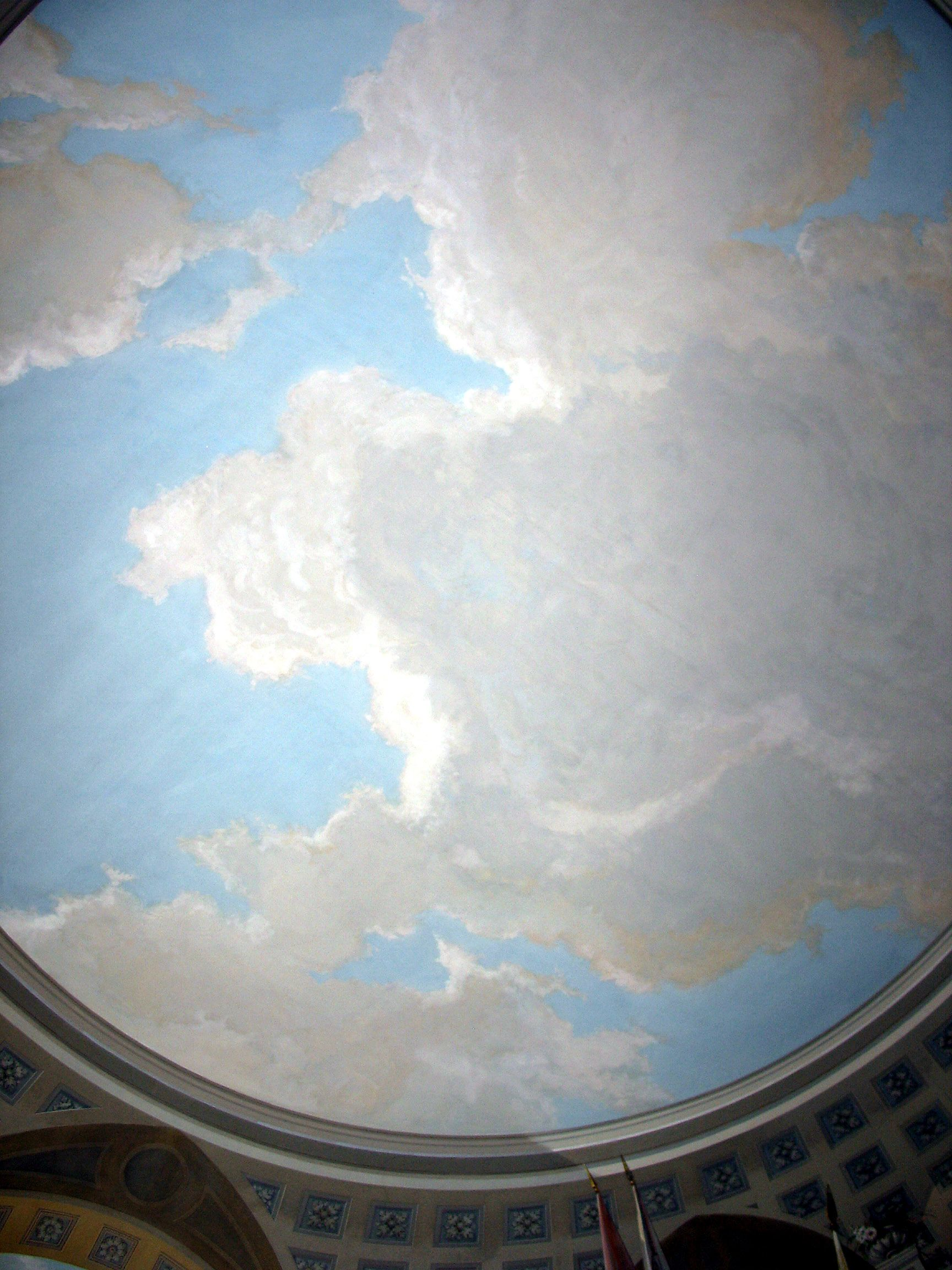 Clouds Painted On Ceiling