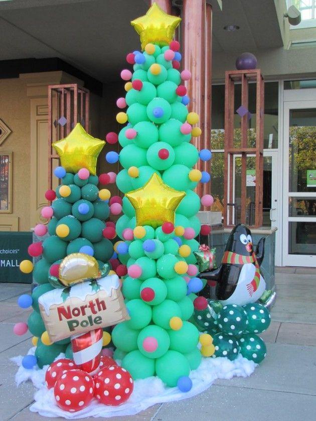 8 decoraciones con globos para navidad que van a - Decoraciones de navidad ...