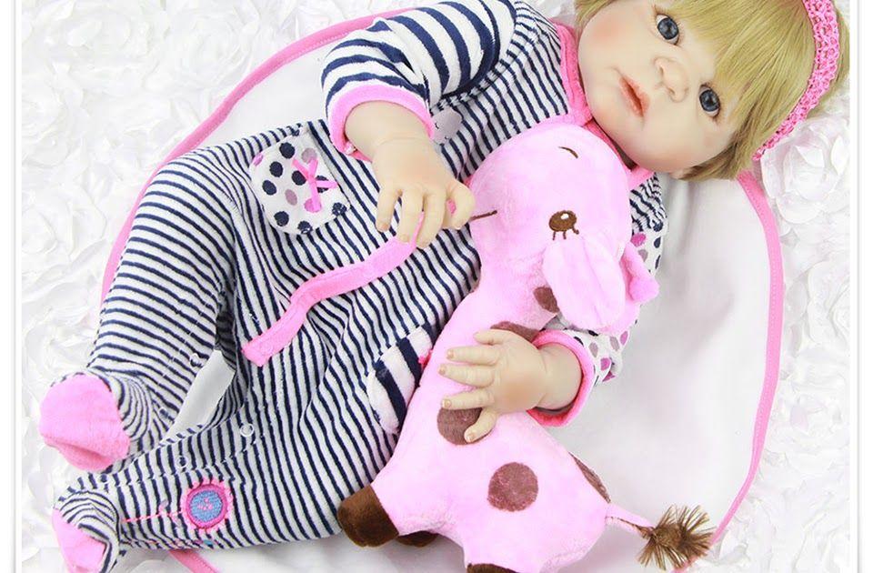 f16adc9c1c70 SALE Full Body Silicone Vinyl Babies Reborn Dolls Realistic Alive 23 ...