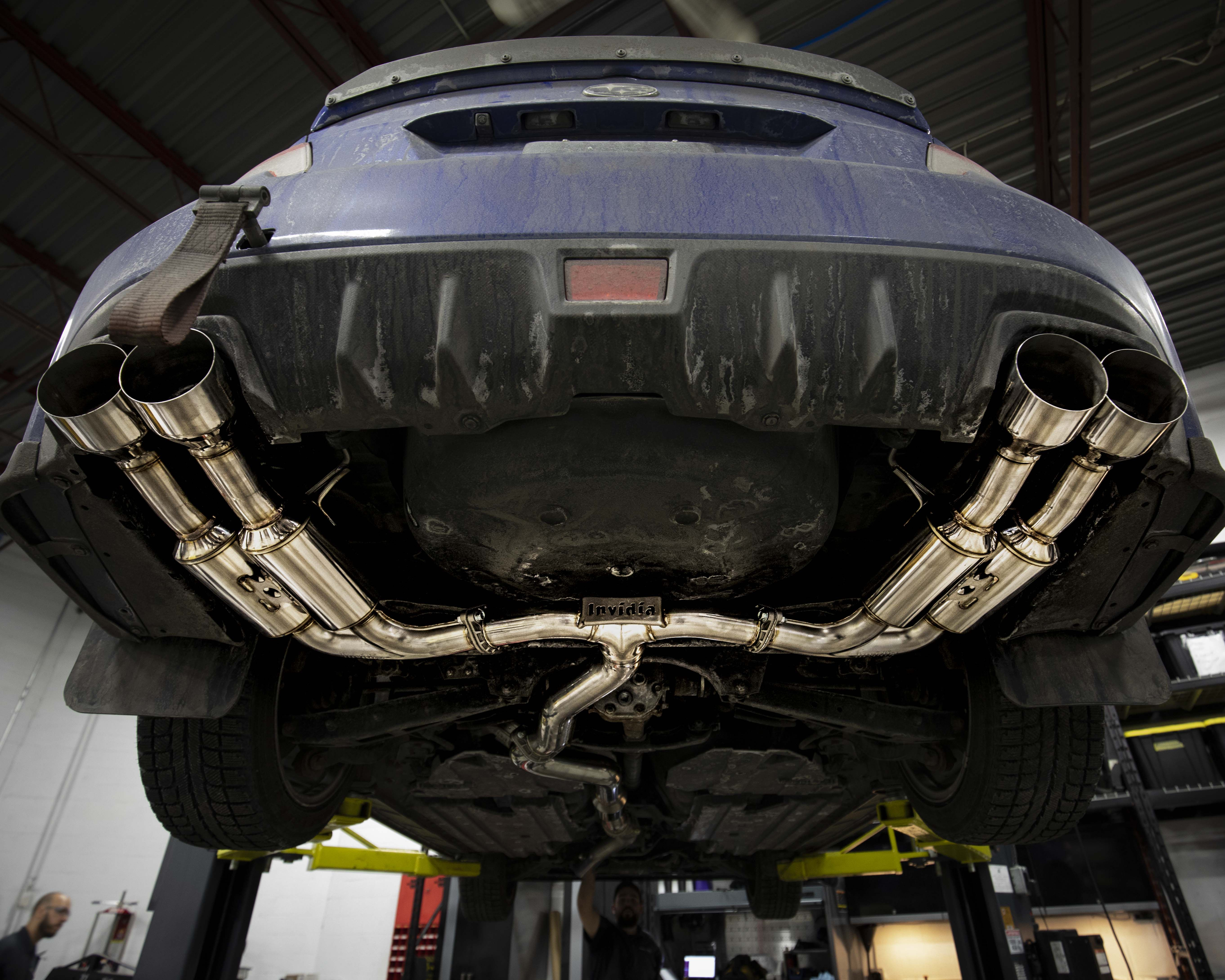 What exhaust do you have on your Subaru? The stainless tip