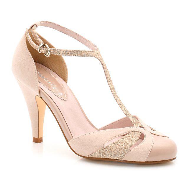 Chaussures de mariage roses femme XSu4XWq5