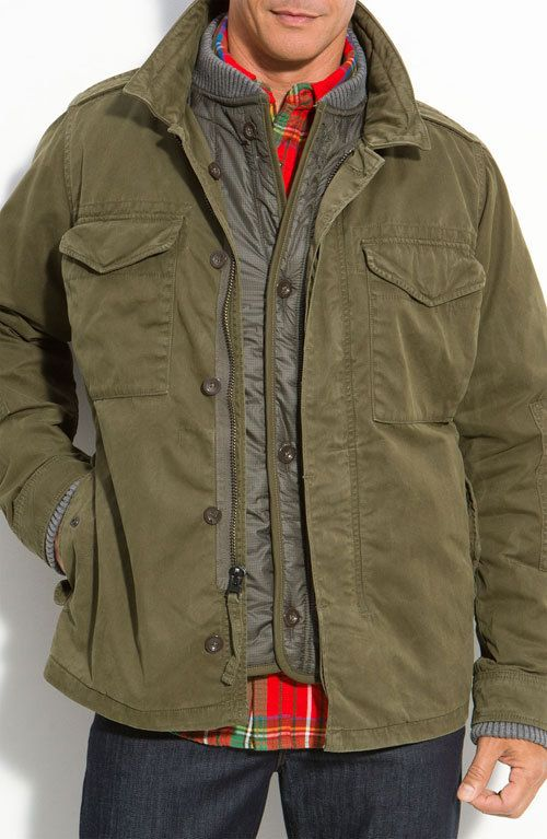 Relwen Waxed Combat Jacket Military Combat Jacket Mens Fashion Rugged Mens Fashion Casual