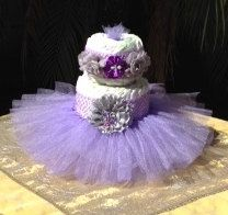 Tutu Diaper Cake Kit Purple: Itu0027s A Girl, Baby Shower Decoration, Diaper  Cake Set, Baby Shower Centerpieces, Unique Baby Shower Centerpieces