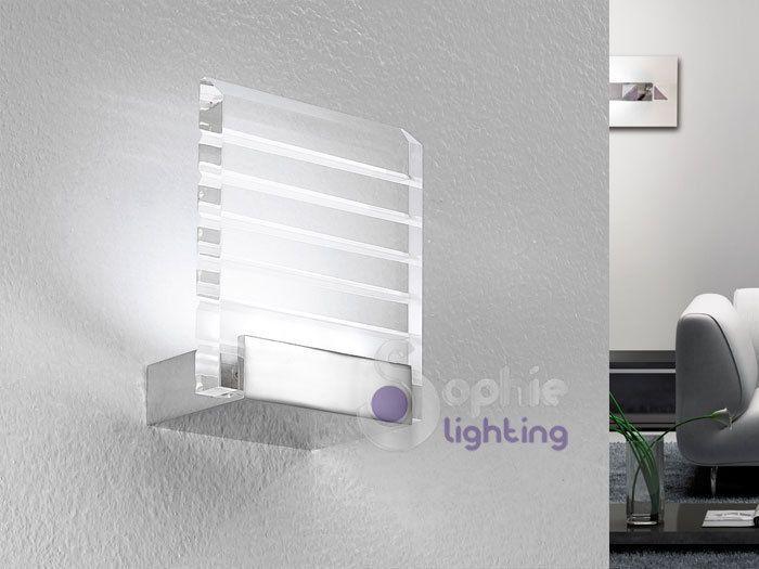 Applique plafoniera lampada parete led moderna bagno soggiorno