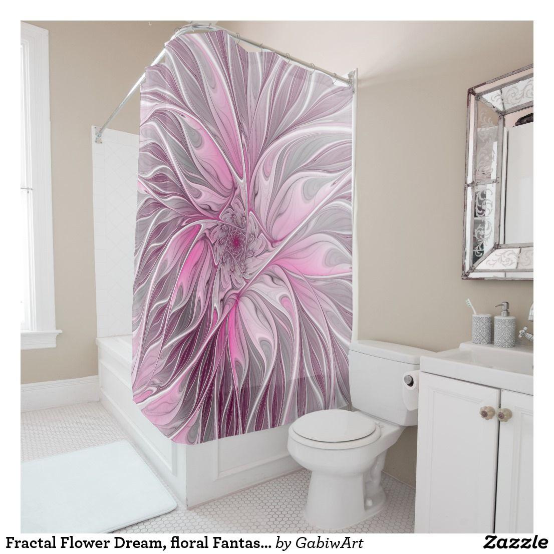 Fractal Flower Dream Floral Fantasy Abstract Art Shower Curtain