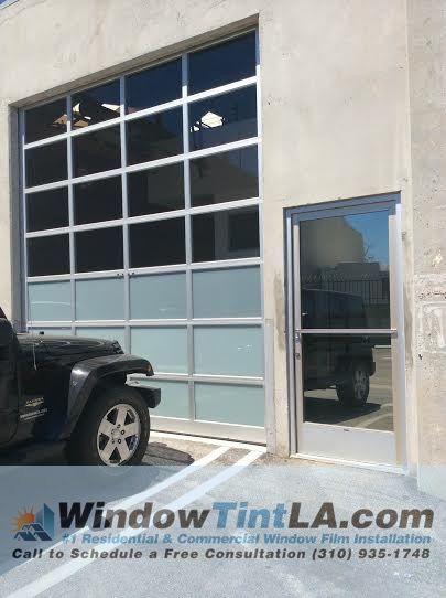 Window Film · Privacy Frost For Garage Door.