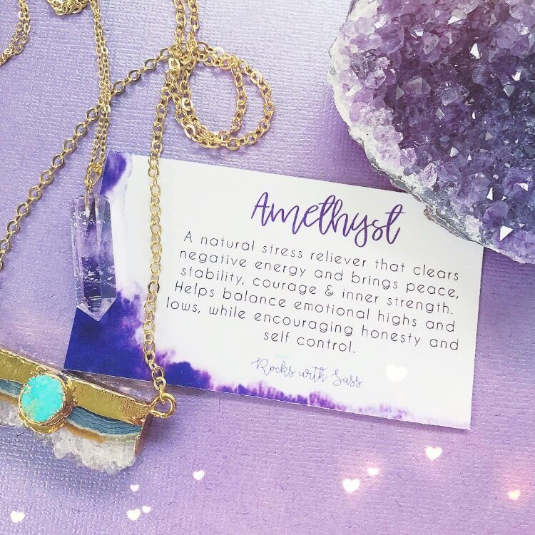 Amethyst Crystal meaning and uses. Amethyst jewelry ...
