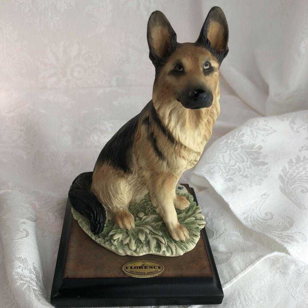 Giuseppe Armani Florence Alsatian Dog Figurine 7 Tall 1382s