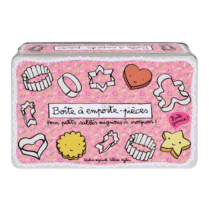 Une jolie boite pour stocker les petits emporte-pièces !   Boite de rangement, Boite et ...