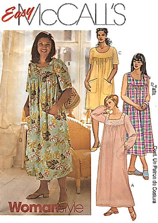 Plus Size Dress Muu Muu Sewing Pattern From Patterns4you Sold