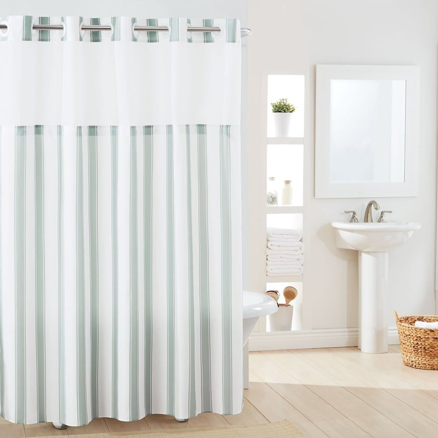 Hookless Stripe Shower Curtain Liner Striped Shower Curtains
