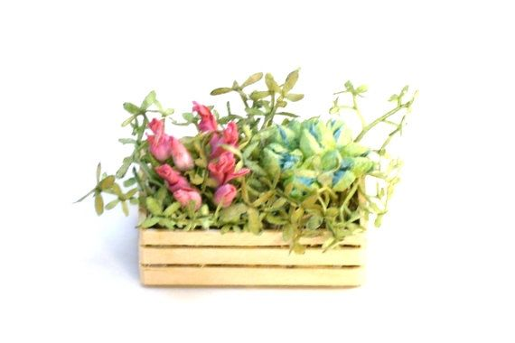 Miniature Wood Crate Fairy Garden Dollhouse by teenytinyplanet