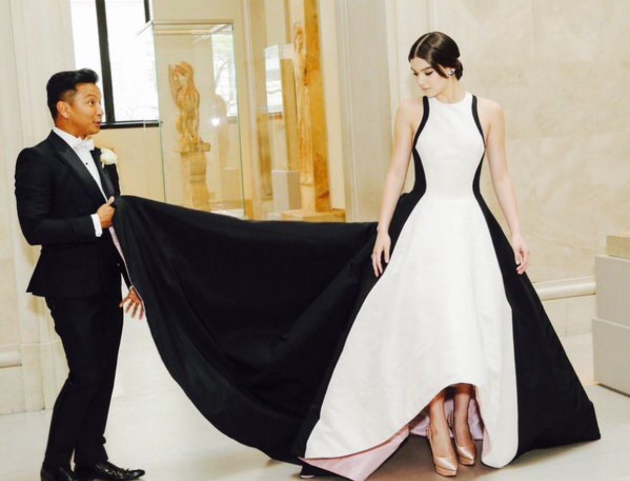 Hailee steinfeld at the met ball gala princess and the frog