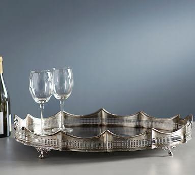 Antique Silver Butler Tray #potterybarn