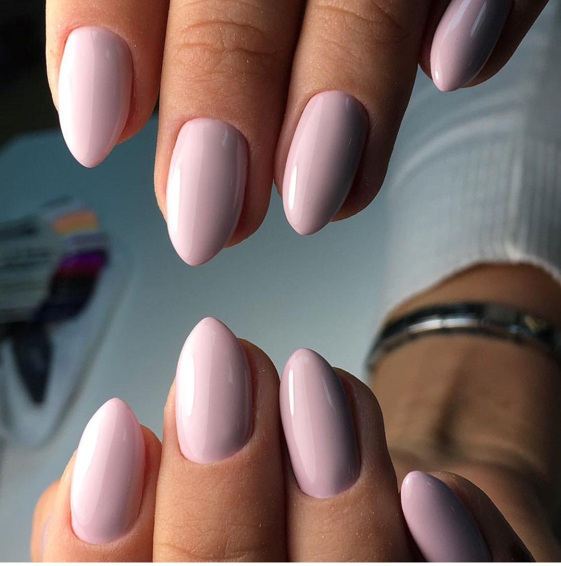 Love The Shape Gel Nails Nails Almond Acrylic Nails
