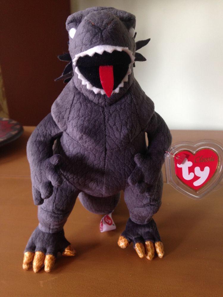 Godzilla Ty Beanie Baby (White eyes) 2001 7e21e09bcae