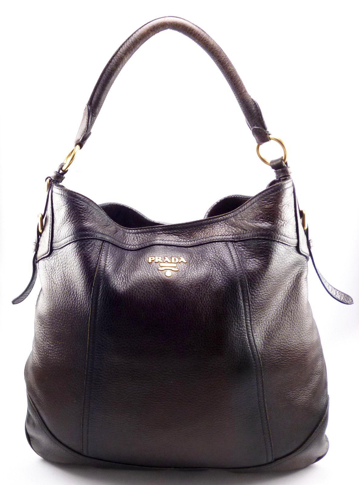 082a51471e3d coupon code prada cervo antik cacao deerskin leather hobo handbag brown  f4e0b fabe0