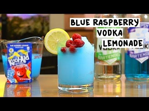 Blue Raspberry Vodka Lemonade #raspberryvodka