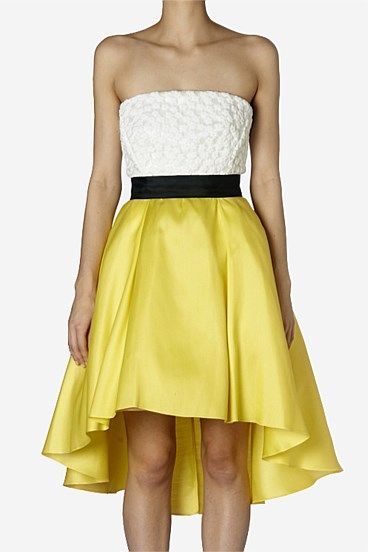 Short Dresses - Homage to the 50s Strapless Cocktail Mini