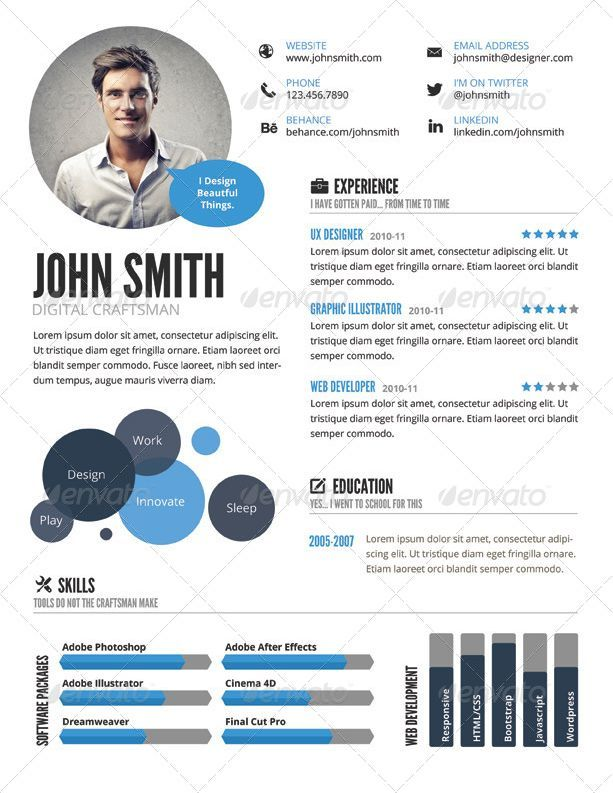 top 5 infographic resume template to make outstanding cv infographic resume templates can be useful tool creating your visual cv and to express your skills - Visual Cv Creator