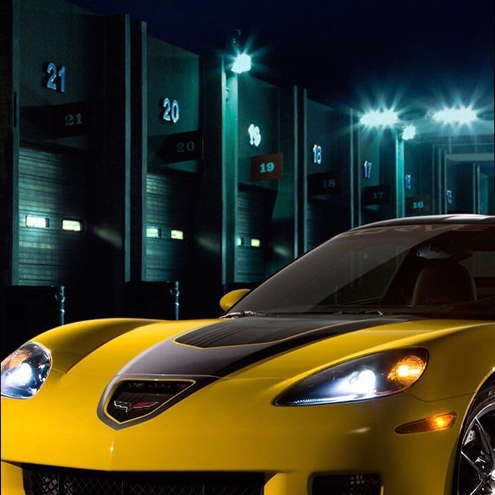 Corvette Black And Yellow Speed Love Future Fire Fast Night