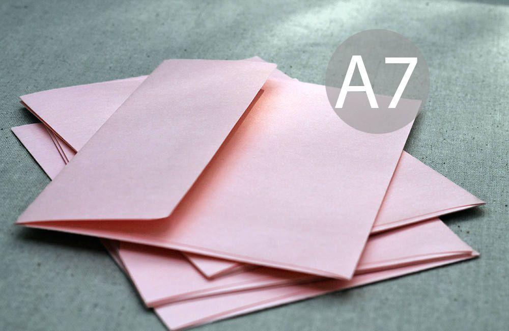 25 5x7 metallic blush envelopes a7 blush pink envelopes