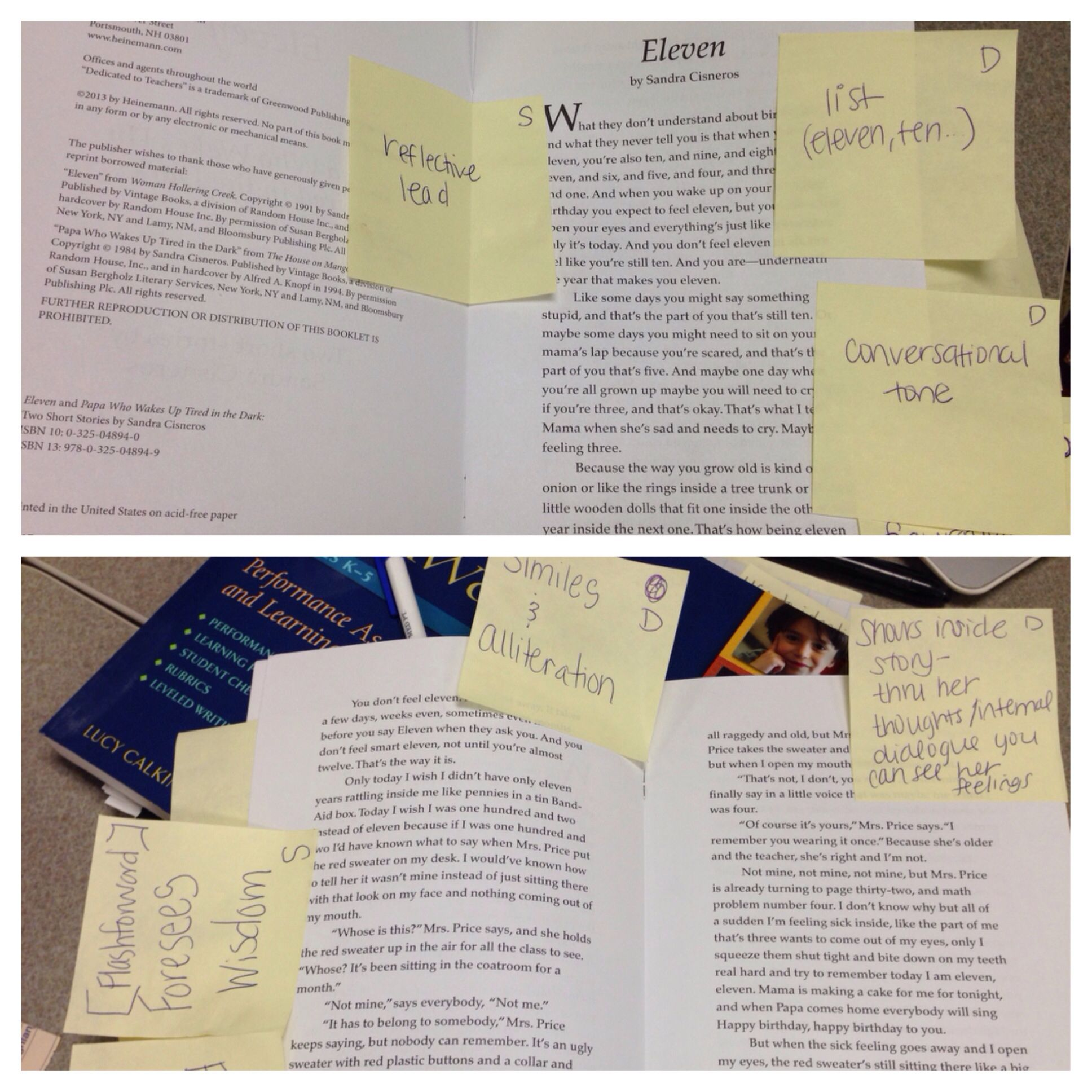 close reading of eleven by sandra cisneros make noticings close reading of eleven by sandra cisneros make noticings utilizing the learning progression and code