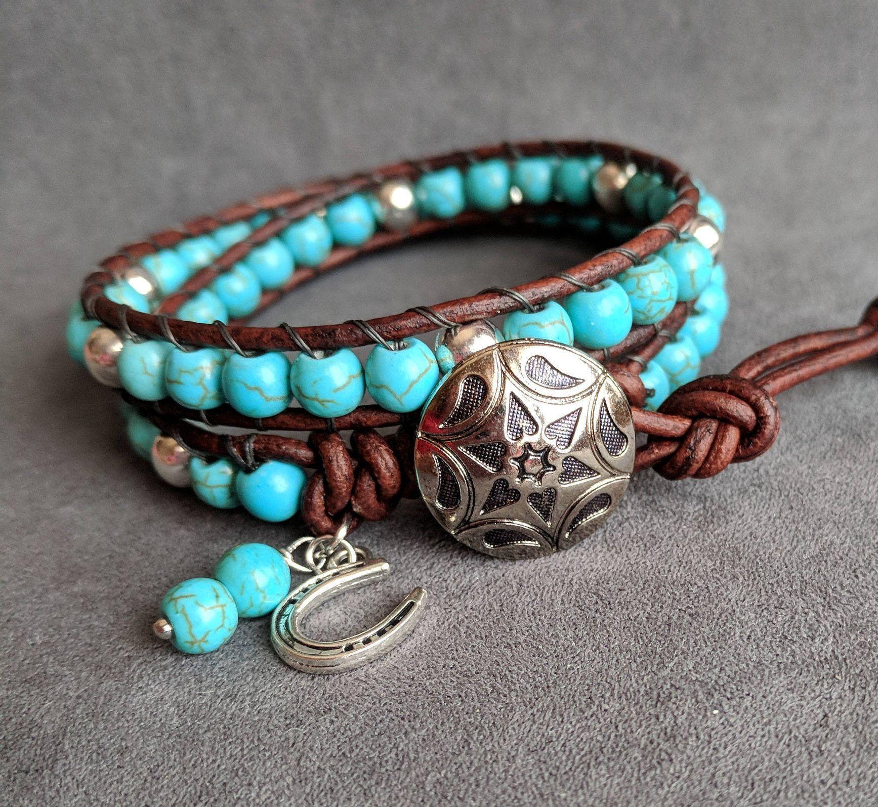 Western Jewelry Western Bead Bracelet Southwestern Turquoise