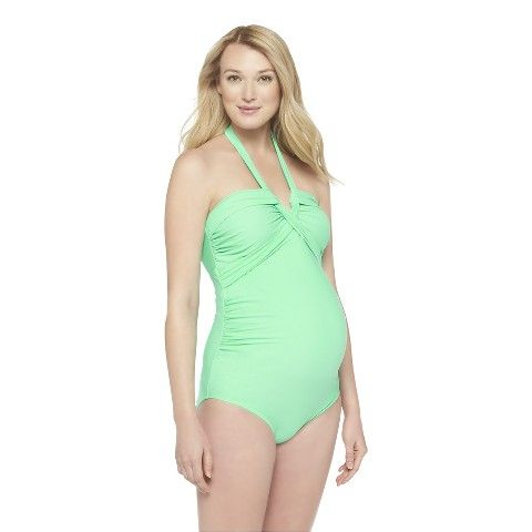 44b0a2bcf94c9 Maternity One Piece Swimsuit Green-Liz Lange® for Target ...