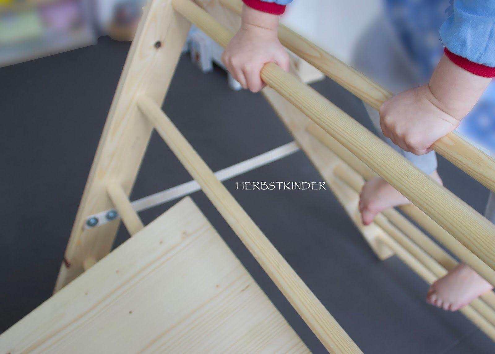 Kletterdreieck Pikler : Diy kletterdreieck nach pikler herbstkinder montessori