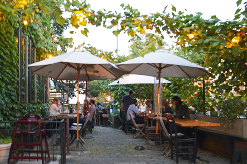 Outdoor Dining In Washington, DC: Patio At Big Bear Café In The  Bloomingdale Neighborhood