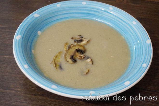 Creme de cogumelos, batata doce e alho-francês | ratatui dos pobres