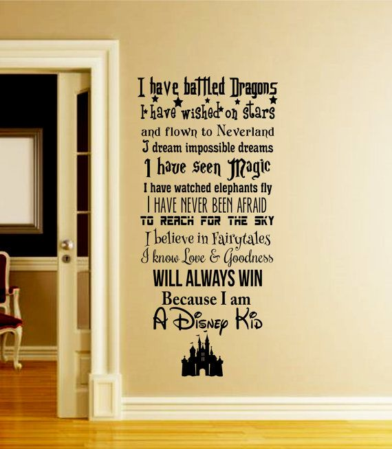 a disney kid wall decal-disney wall decal-we do disney-in this house