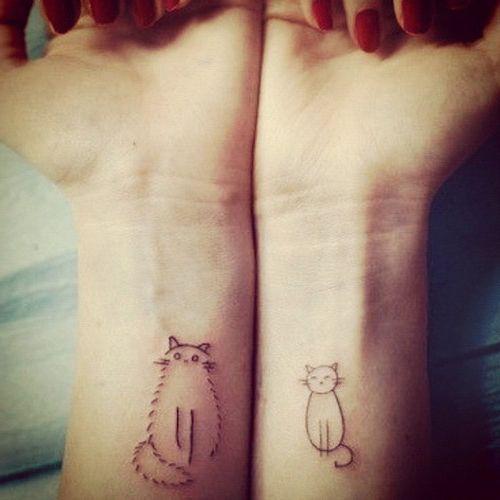 23 Tatuajes de gatos para parejas