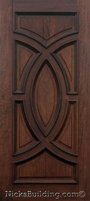 Solid Wood Door With Decorative Panels Solidwooddoor Wooddoor Nicksdoors Nicksbuilding Entrance With Images Mahogany Doors