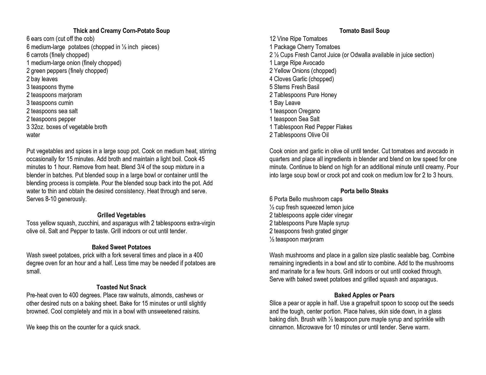 Daniel Fast Instructions - Great daniel fast recipes to try omit the honey and maple syrup for the