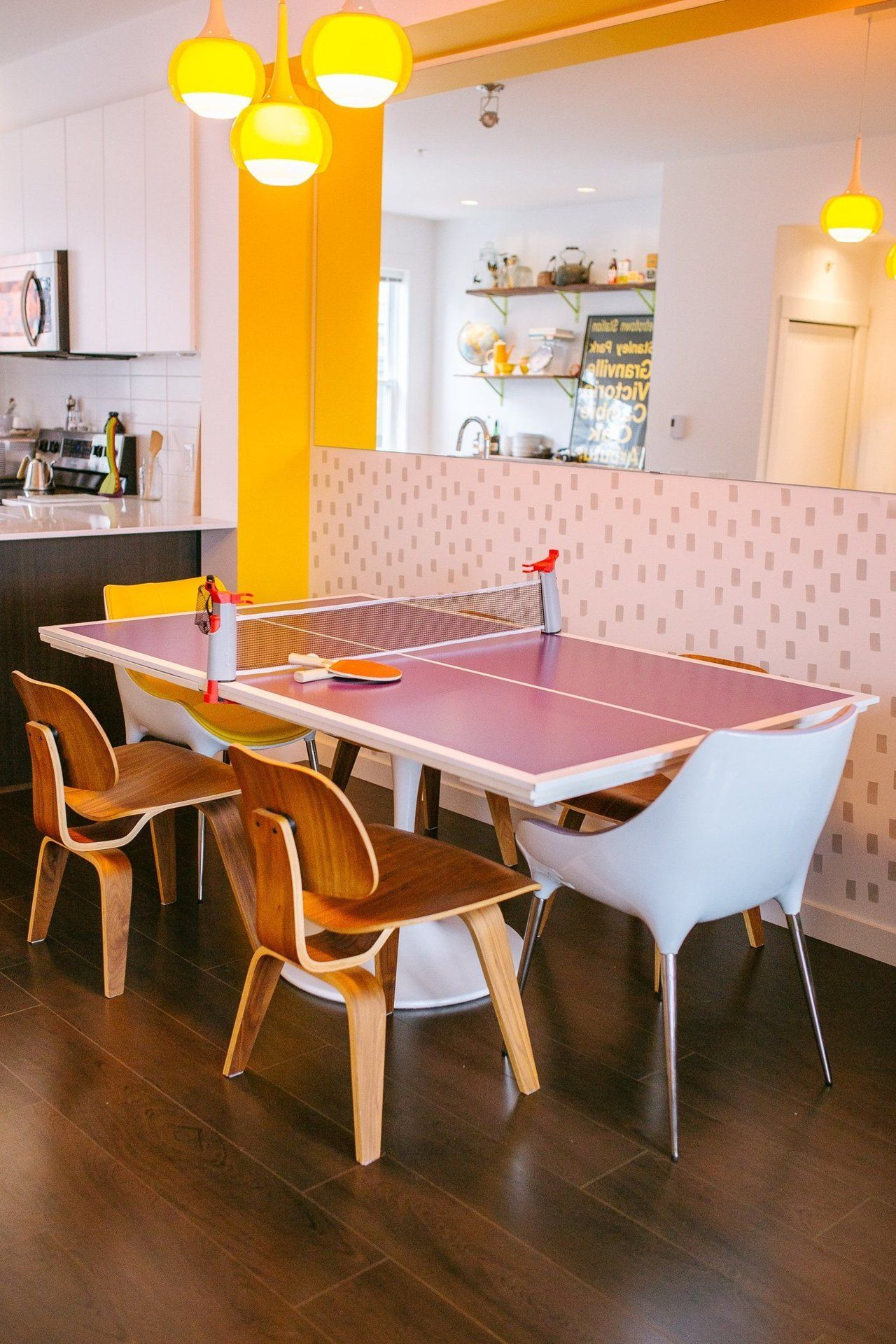 Tour A Creative Colorful Canadian Townhouse  Ping Pong Table Best Dining Room Ping Pong Table Inspiration