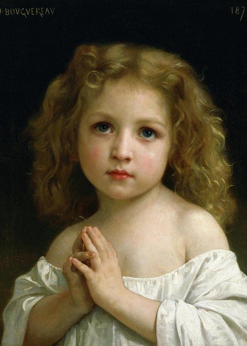 Little Girl, 1878 Greeting Card for Sale by William-Adolphe Bouguereau
