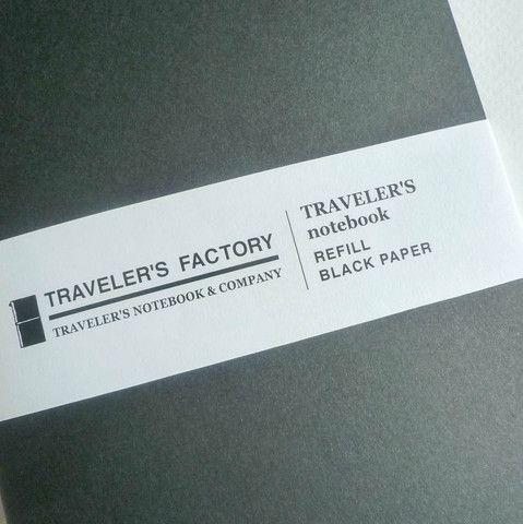 Tabiyo Shop - Refill Black Paper Notebook (Regular Size)