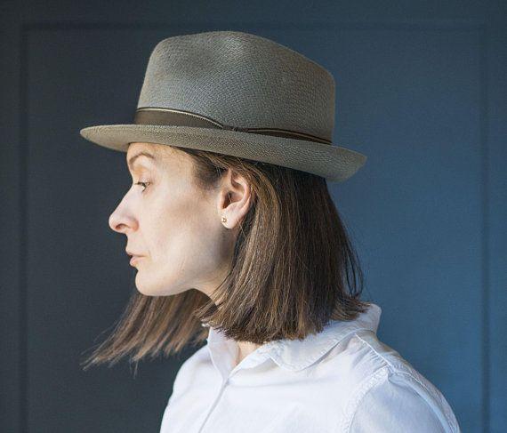 Cloche hat felt wool hat for women. Moss green hat size M. Vintage felt  Kangol cloche. Autumn fashion lady hat bell shaped hat minimalist  d0b19a3ee1a5