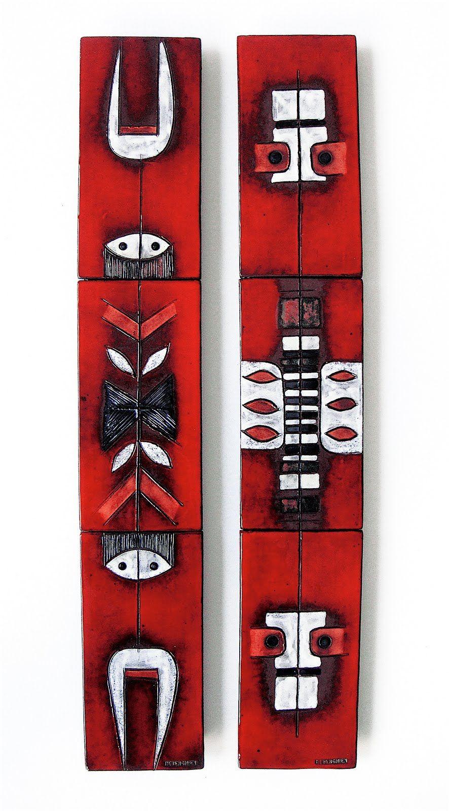 Oswald tieberghien glazed ceramic tiles mounted on wood panels oswald tieberghien glazed ceramic tiles mounted on wood panels 1960s dailygadgetfo Choice Image